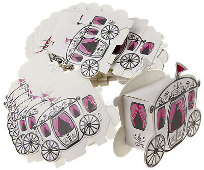 50 x Princess Candy Box Cinderella Fairytale Carriage Wedding Favour Party Gift