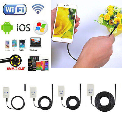6LED Waterproof USB WiFi Endoscope Inspection Camera fr iPhone 7 Android Windows