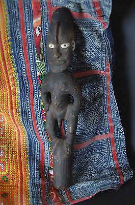 Old Papua New Guinea Sepik River Carved Wooden Flute Stopper …beautiful piecel
