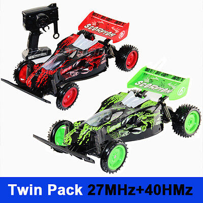 Twin Pack 1:10 SCALE RC DIRT BUGGY Racer Radio/Remote control RC Car Off Road