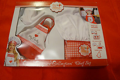 Elf on the Shelf Claus Couture Child/Doll Chef Set  Aprons, Hats, Cookie Cutter