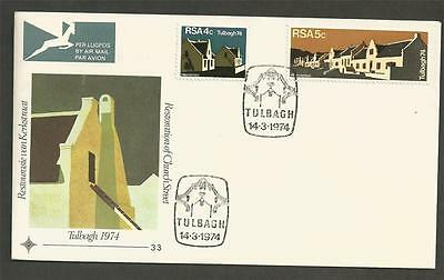 SOUTH AFRICA - 1974 Restoration of Tulbagh   - FIRST DAY COVER.