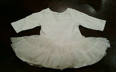 Old Navy girls 0- 3months cream Christmas tulle dress with bodysuit