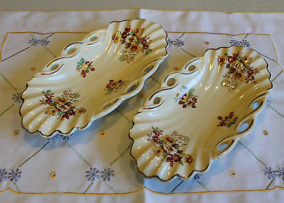 "Vintage Two Royal Staffordshire A J Wilkinson ""HoneyGlaze"" Dishes"