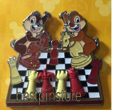 Disney pin - HKDL Chip n Dale Western Chess Game LE500