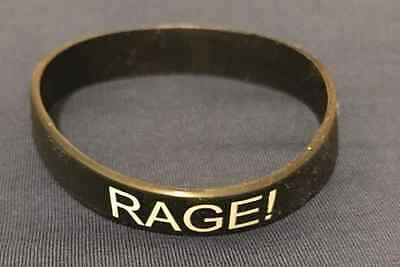 Rage wristband / Rubber flexible fits all wristband color BLACK