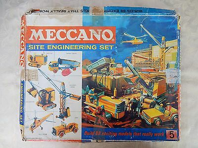 Vintage 1960's Meccano Site Engineers Set Number 5 with Instruction Booklet