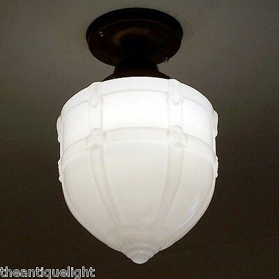 858 20's 30s Gothic Victorian Colonial Ceiling Light Fixture hall porch Pendant
