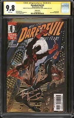 Daredevil #2 variant CGC 9.8 SS Signed Stan Lee, Kevin Smith, J. Scott Campbell