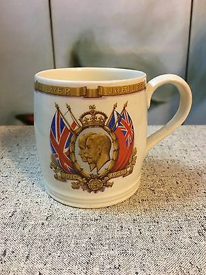Vintage c1935 English J & G Meakin Mug Silver Jubilee King George V & Queen Mary
