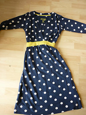 Frugi Mother breastfeeding nursing organic dress - navy and white spot small*