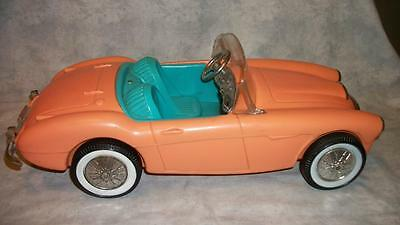 D70 Vintage Barbie Austin Healy Convertible Car Parts or Repair Mattel Irwin