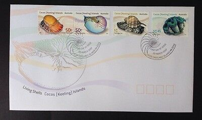 2007 Cocos (Keeling) Islands Living Shells First Day Cover