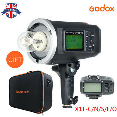 UK Godox AD600BM HSS 600W 2.4G Wireless Flash +X1-N Trigger for Nikon+Free CB-09