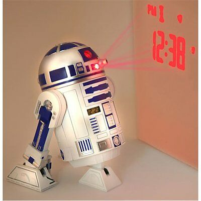 Star Wars R2-D2 Projection Alarm Clock with SFX (NEW)  LOW PRICE OF $49.50