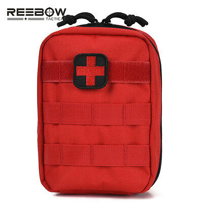 Red Utility EMT Bag IFAK Medical First Aid Pouch Emergency Rescue Military Pack