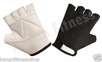 Kango Fitnessweight Lifting Leather Padded Training Gym Wheelchair Gloves