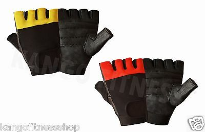 Leather  Men's Weight Lifting Training Cycle Wheelchair All Sports Gloves