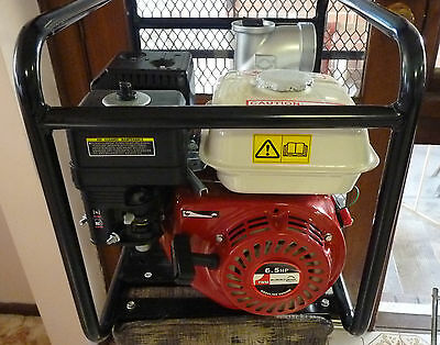 Water Transfer Pump 3 Inch, 6.5 HP, 4 Stroke Petrol Engine and Hoses