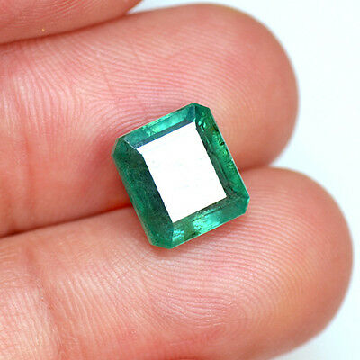 4.07 Cts Natural Top Quality Emerald Green Loose Gemstone Octagon Cut Lot Zambia