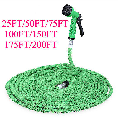 30m Magic Water Pipe Household Flexible Hose Car Washing Gun Spray Nozzle Joint