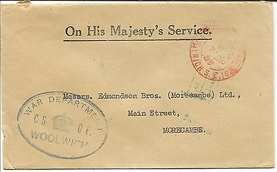 G Britain 1939-53 Kgvi Ohms Envelopes Mainly During Wwii (24)