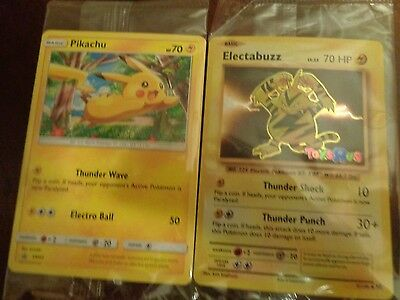 Pokemon Electabuzz 2016 Toys 'r' Us Promotional Card & Target Pikachu Sun & Moon