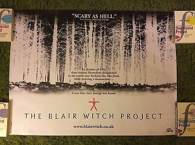 The Blair Witch Project Original Movie Poster. UK Quad. Excellent condition.