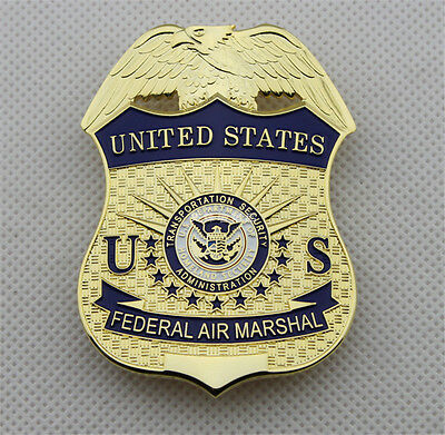US DHS TSA Federal Air Marshal  Insignia Copper Badges Rare Emblem Armband Gifts