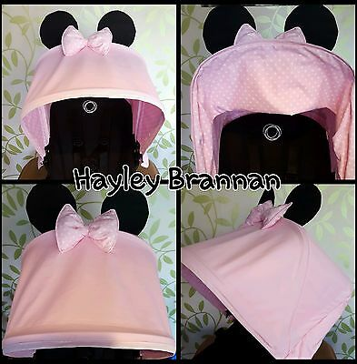 Bugaboo Donkey custom made BRAND NEW minnie mouse hood soft pink