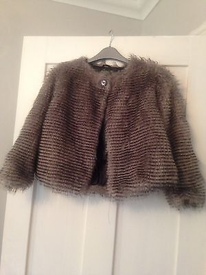Girls Brown Fur John Lewis Jacket Age 8