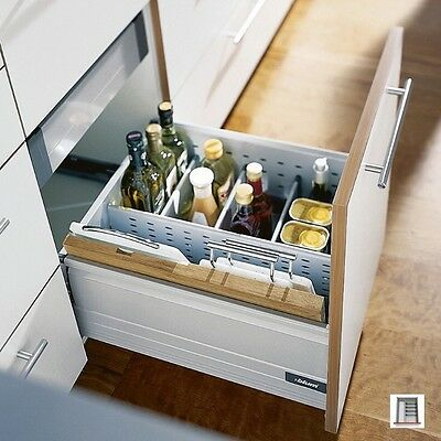 Blum Orga Line Bottle Set Complete With Dividing Wall And Drip Tray