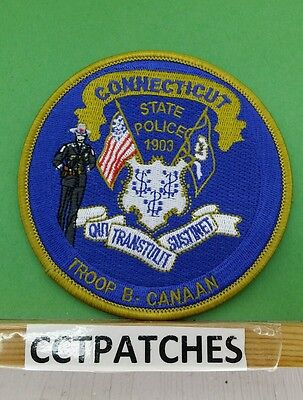Connecticut State Police Troop B Canaan Shoulder Patch Ct