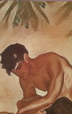 """ORIGINAL Nude Gay Male Interest Mixed Media Painting-""""Pans Garden-1"""""""