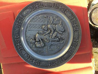 Pewter wall plate