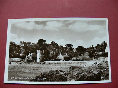 Postcard - St Catherine's Bay, Jersey. Real Photograph.