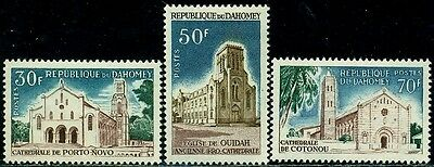 Dahomey 1966 Cathedral,Church,Buildings,Architecture,Mi.267-9,MNH