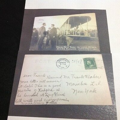 Aviation.vin Fiz.perry Rodgers.1912.long Beach.stamp.postage.original.very Rare.