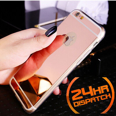 Luxury Ultra-thin TPU RoseGold Mirror Metal Case Cover for iPhone 5 5s {{ni36