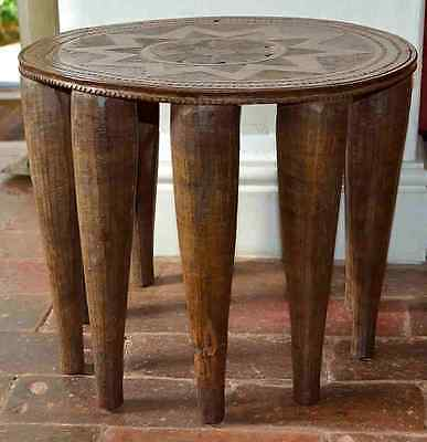 A Vintage hand carved African Nupe Tribe Table c1950/60s. from Nigeria.