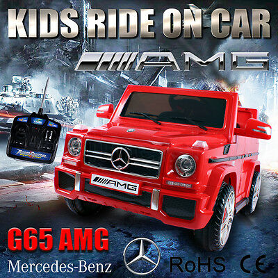 OZ Licensed Mercedes-benz G65 AMG Kids Ride on Car Remote Control Battery 12V