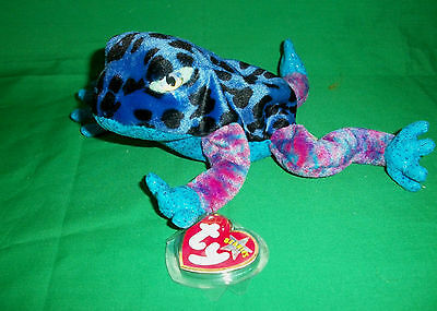 Dart The Frog Ty Beanie Baby Soft Toy 2001 Nwt