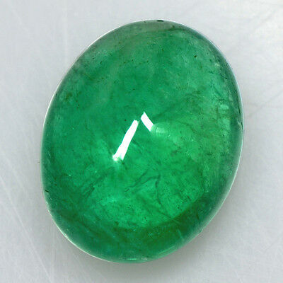 4.83 Cts Natural Top Green Amazing Emerald Loose Gemstone Oval Cabochon Zambia $