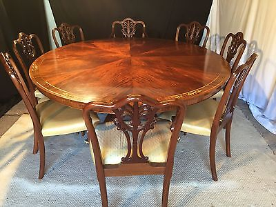 Grand Regency Sunburst Mahogany Designer Table Professionally French Polished
