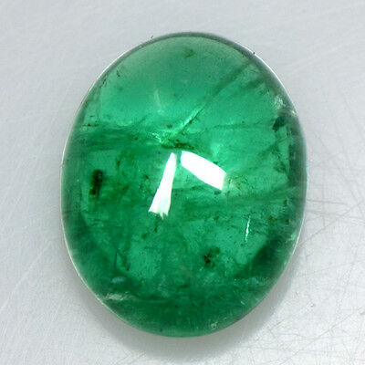 3.48 Cts Natural Top Green Emerald Loose Gemstone Oval Cabochon Untreated Zambia