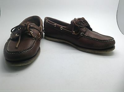 Men's Brown Leather Timberland Boat Shoes