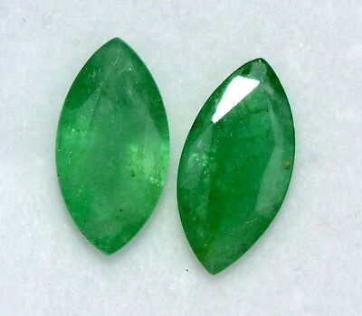 Certified Natural Emerald Marquise cut 10*5 mm 1.80 Cts Brazil Green Gemstones