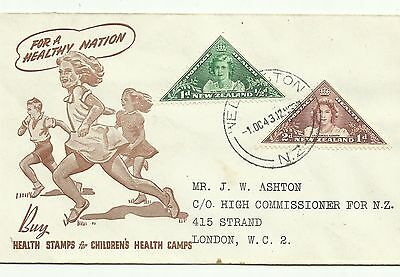 New Zealand 1st day cover 1943 Health