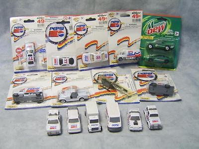 V5 Lot 15 Pepsi Team Cars Trucks Jeep Helicopter Mountain Dew NIP Collectible