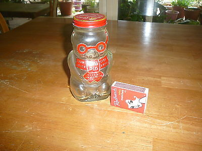 VINTAGE COLLECTABLE ALLENS LITTLE PIG JELLY BEAN MONEYBOX JAR BOTTLE 99c
